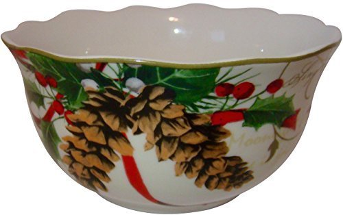 222 Fifth Holiday Wishes Set of 4 Cereal/Soup Bowls by 222 Fifth