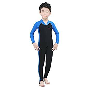 Lisianthus Child Sun Protection Full Body One-piece Wetsuit Blackblue S