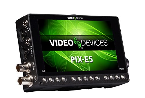 Video Devices PIX-E5 5-inch 4K Monitor and Video Recorder (ProRes and H.264) - HDMI and 6G-SDI by Video Devices