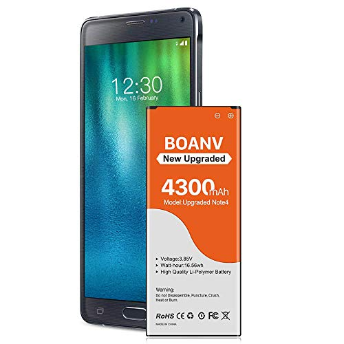 Galaxy Note 4 Battery,[Upgraded] 4300mAh Replacement Battery for Samsung Galaxy Note 4 N910, N910A(AT&T), N910T(T-Mobile), N910V (Verizon), N910P(Sprint), N910U LTE[1 Years Warranty]