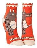 """Blue Q Women's Ankle Socks """"Hangry"""", (Orange)"""