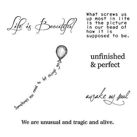 Tatuaje Temporal Tattify - Tipografía - Así es la vida (Juego de ...