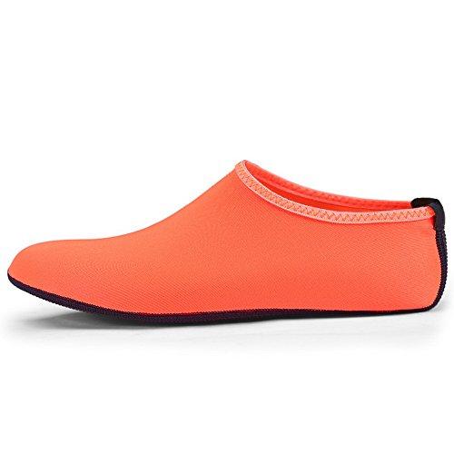 Mannen Vrouwen Waterschoenen Antislip Aqua Sokken Atletische Sportschoenen Voor Strand Zwembad Zee Oranje