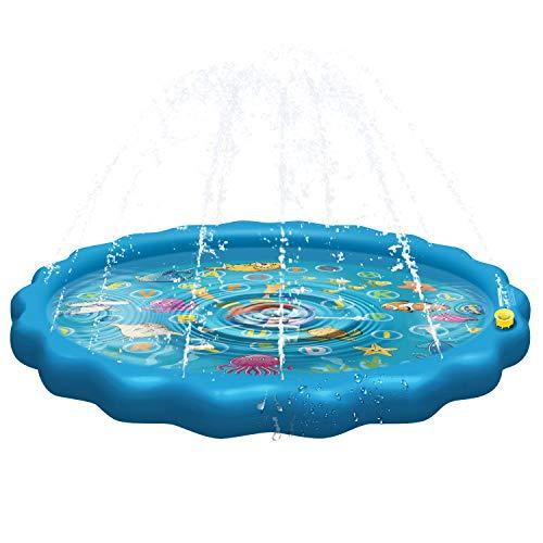 🥇 Balhvit [Upgrade Thicken Splash Pad Water Sprinkler for Kids