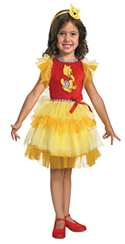 Girls Frilly Winnie The Pooh Kids Child Fancy Dress Party Halloween Costume