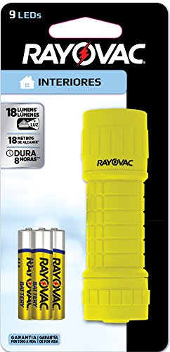 Rayovac BRS9LED-B Value Bright 9 LED Flashlight (Colors may vary)