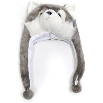 Amazon.com: 'Hat-imals' Polar Bear Plush Winter Hat: Clothing