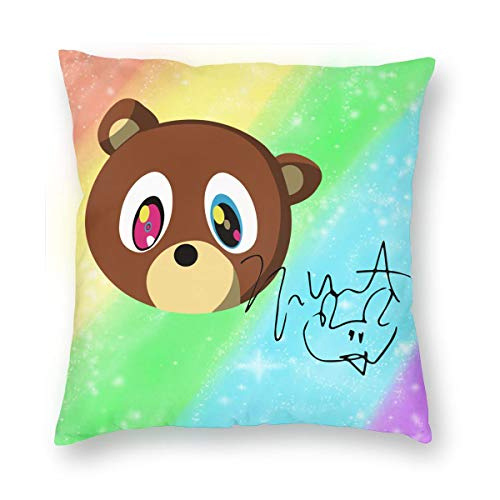 LixuA Pillow Covers Kanye West Yeezus Bear The Signature Home Decor Throw Pillow Covers Cushion Cover