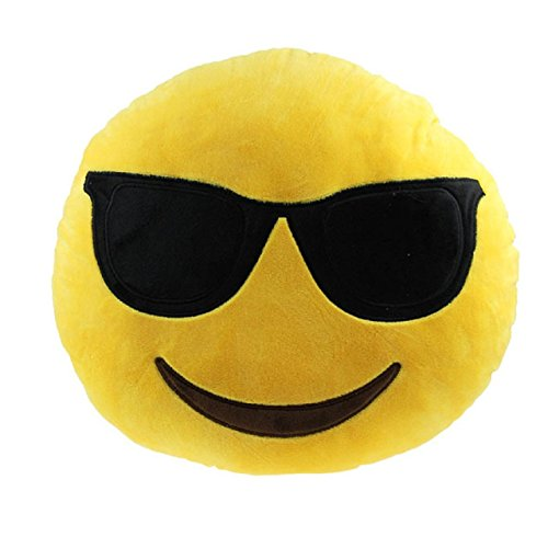 Rolling Buy Emoji Plush Pillows (Sunglasses)