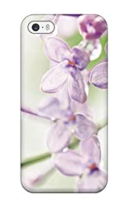 Purple Floral Flowers Pattern For Ipod Touch 5 Case Cover Touch Hard Shell Black 4th Generation