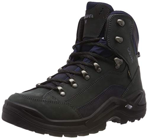 Lowa Renegade GTX Mid Wide Men Größe UK 8 EU 42 dunkelgrau/navy