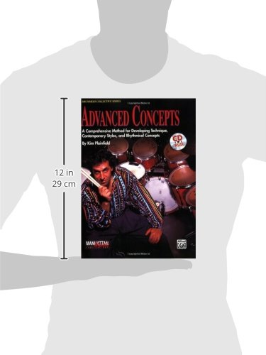 Picture of a silhouette holding the legendary drum book Advanced Concepts by Kim Plainfield