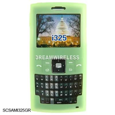 Clear Green Gel Silicone Skin Case For Samsung Ace i325