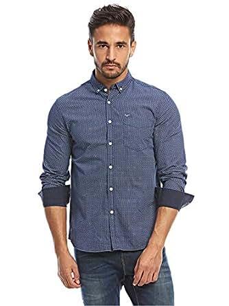 Flying Machine Navy Shirt Neck Shirts For Men