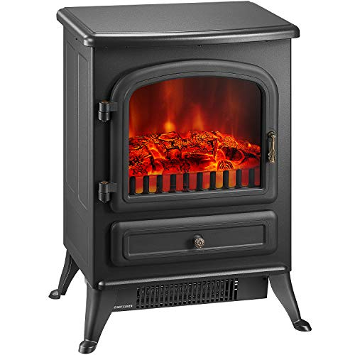 Cheap kealive Electric Fireplace Freestanding Ventless Fireplace 3D Flame Electric Wood Stove Fireplace 22