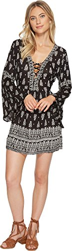 Angie Long Sleeve - Angie Women's Bell Sleeve Dress Black Large