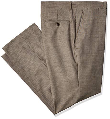 (Tommy Hilfiger Men's Modern Fit Suit Separate with Stretch (Blazer & Pant), Tan Sharkskin, 3834)
