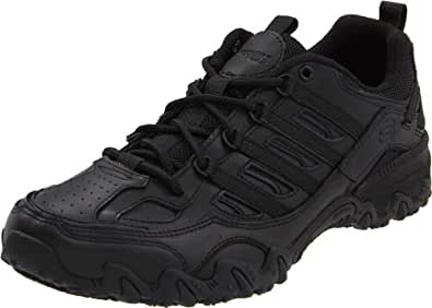 Skechers for Work Women's Compulsions Chant Lace-Up Work Shoe,Black,5 M US