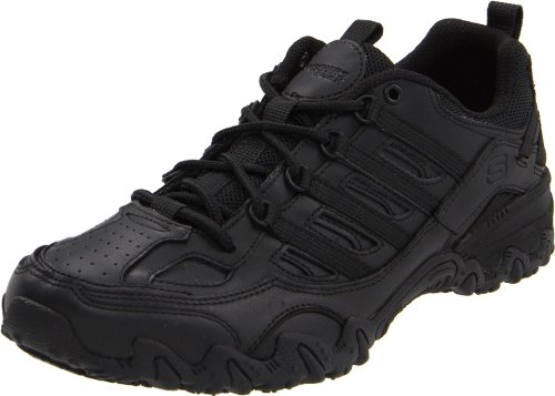 Skechers for Work Women's Compulsions Chant Lace-Up Work Shoe, Black, 7.5 M US by Skechers