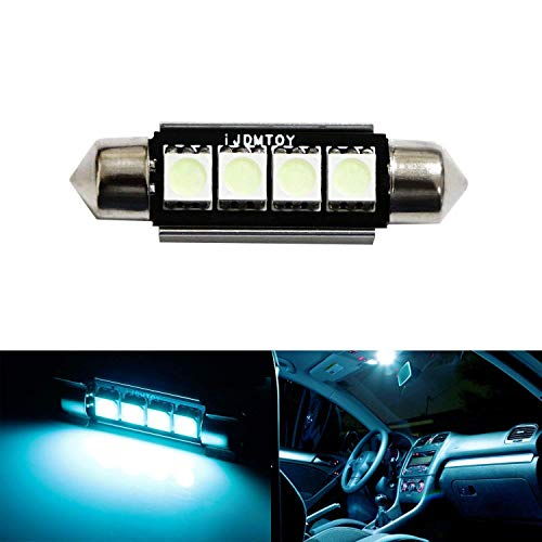 iJDMTOY 4-SMD Error Free 6411 578 LED Bulb For Car Interior Dome Light or Trunk Area Light, Ice Blue
