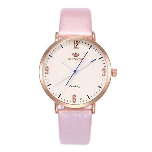 Relojes Pulsera Mujer,BBestseller Moda Cuero PU Acero Inoxidable Analógico Cuarzo Reloj Pulsera de Negocios (Azul): Amazon.es: Ropa y accesorios