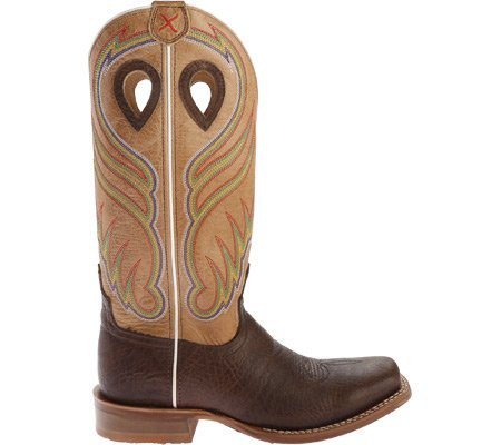 Twisted X Hombres Crazy Horse Ruff Acción Cowboy Bota Square Toe - Mrsl032 Crazy Horse Hombro / Crystal Leather