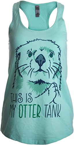 This Is My Otter Tank | Cute Otter Lover Top, Women's Racerback Workout Tank-(Racerback,M)