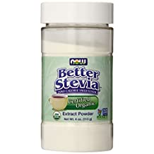 NOW Foods Organic Stevia Extract Powder, White, 4 Ounce