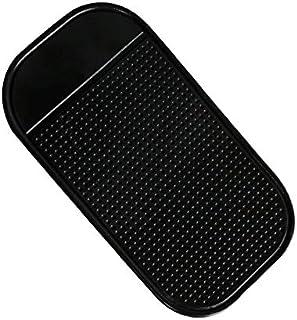 HermosaUKnight Silikon-Fahrzeug Anti-Rutsch-Matte Anti-Rutsch-Pad mit ausgeprägter Runde für Mobile Black Ordinary