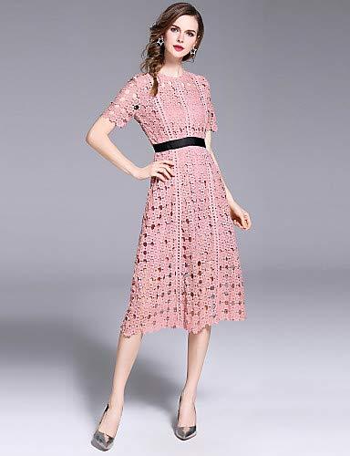 Street Women's Cut Sofisticata A Solid Lace Out Dress Pink Blushing chic Color YFLTZ linea ZqSwxBS6