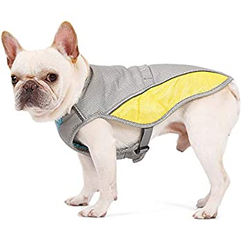 Uheng Pets Dogs Swamp Cooler, Cooling Vest Chillz Coat for Summer Home Travel Indoor Outdoor Running - Prevent Overheating and Dehydration - XL