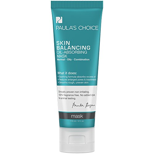 Paula's Choice SKIN BALANCING Oil-Absorbing Mask for Large Pores and Blackheads - Oily Skin, Combination Skin - 4 oz Oil Absorbing Clay
