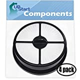 UpStart Battery 4-Pack Replacement for Eureka Endeavor Never Looses Suction (5400 Series) Vacuum HEPA Filter with 7-Piece Micro Vacuum Attachment Kit - Compatible with Eureka 68115, HF-16 Filter