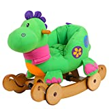 labebe - Baby Rocking Horse, Dinosaur Ride On Toy, Kid Green Dinosaur Rocker for 1-3 Year Old, Infant (Boy&Girl) Plush Animal Rocker, Toddler Stuffed Ride Toy for Outdoor&Indoor, Child Birthday Gift
