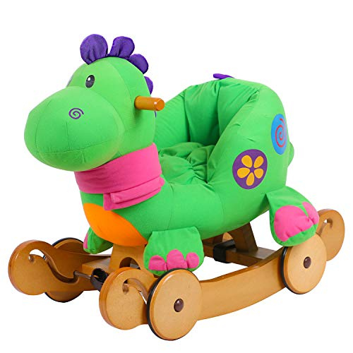 - Labebe - Baby Rocking Horse, Dinosaur Ride On Toy, Kid Green Dinosaur Rocker for 1-3 Year Old, Infant (Boy&Girl) Plush Animal Rocker, Toddler Stuffed Ride Toy for Outdoor&Indoor, Child Birthday Gift