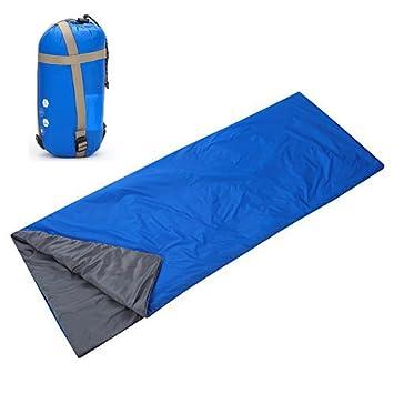 Yahill - Saco de dormir ligero impermeable para deporte aventurero, senderismo, azul celeste: Amazon.es: Deportes y aire libre