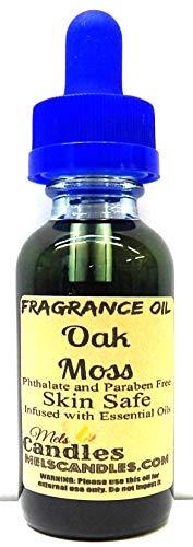 Oak Moss (Spanish) 1oz / 29.5ml Blue Glass Bottle of Premium Skin Safe Fragrance/Essential Oil Blend ()
