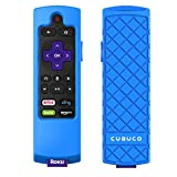 Cuauco Case for Roku Express 3900/ Express+3910/Roku Streaming Stick 3800/Roku Streaming Stick+ 3810,Protective Silicone [Anti Slip] Shock Proof Remote Controller Case (Model Year 2017,2018) (Blue)