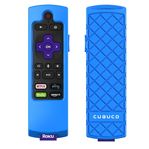 Cuauco Case for Roku Express 3900/ Express+3910/Roku Streaming Stick 3800/Roku Streaming Stick+ 3810,Protective Silicone [Anti Slip] Shock Proof Remote Controller Case (Model Year 2018,2019) (Blue)