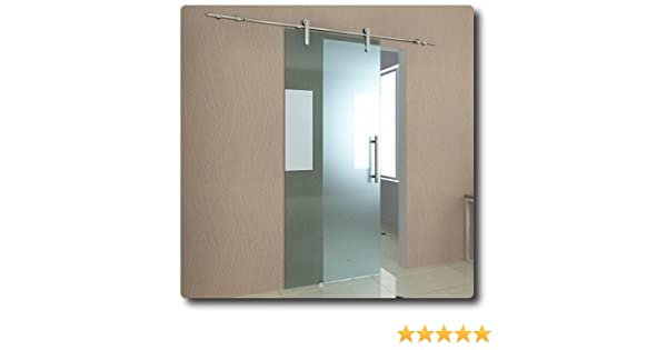 Puerta Corredera 90 x 205 cm de 10 mm de grosor de vidrio satinado ...