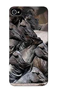 New Troop Of Horses Tpu Case Cover, Anti-scratch Summerlemond Phone Case For Iphone 5/5s