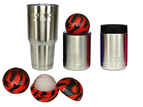 ARCTIC STEEL Cups Christmas Gift Set, Stainless Steel Double Wall Vacuum Insulated, will Keep Your Drinks Cold to the Last Drop, One 30 oz., One 10 oz., One Can Koozie by ARCTIC STEEL