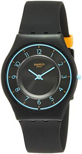 Swatch Skin Troposphere Black Dial Silicone Strap Ladies Watch SFB147