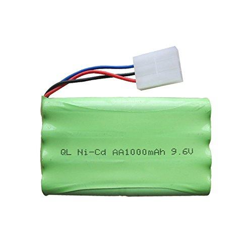 Qsmily Ni-Cd AA 9.6V 1000mAh Rechargeable Battery Packs KET 3P Plug for MZ 2050 2054 2060 2053 2020 RC Car Remote Control Vehicle