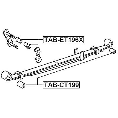 FEBEST TAB-CT199 Rear Spring Arm Bushing: Automotive
