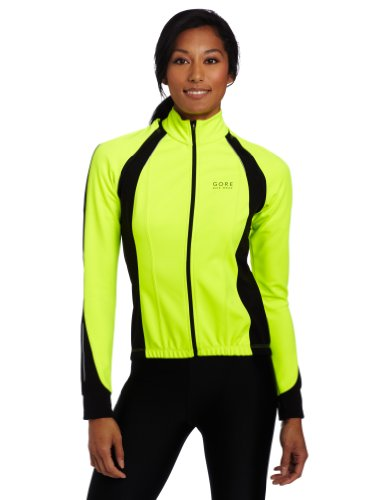 Gore Bike WEAR Lady's Phantom Windstopper Soft Shell Jacket, JWPHAW, Neon Yellow/Black, XS