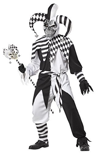 California Costumes Nobody's Fool Hood, Black/White, X-Large Costume]()