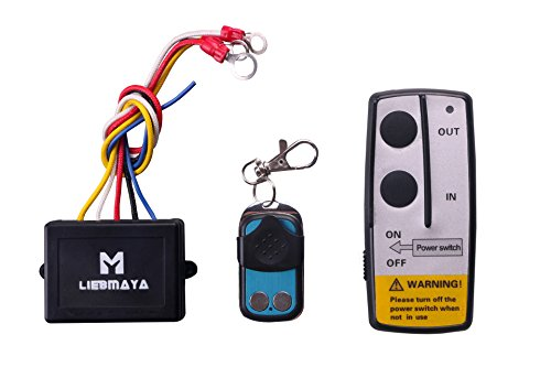 LIEBMAYA Wireless Winch Remote Control Kit for Truck Jeep ATV SUV 12V Switch Handset (Switch Winch)