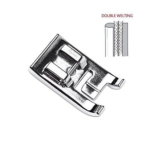 DreamStitch Double Piping Sewing Machine Presser Foot 7mm Type Fits All Low Shank and High Shank (USE Master shank)Snap-On Singer,Brother Babylock, Euro-Pro Janome White Juki New Home Simplicity Elna by DreamStitch