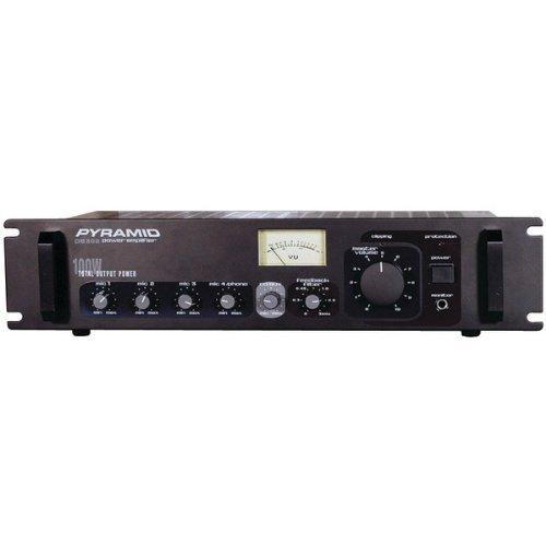 1 - Amp with Microphone Input (300 Watt), Phono/aux input selector, Phono & aux RCA input jacks, PA305